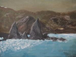"""La Gomera"", Akryl, 2013, 33 x 40 cm,900:-"