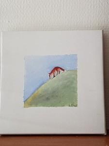 rävunge (Folkets hus 2017) 20*20 cm, akryl, pris 400:-