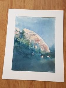 """""""klippa i gerlesborg"""" (2012) 30*40 cm, pris: 1800:-"""