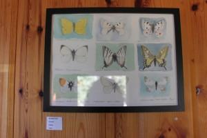 fjärilstavla akvarell 2012, såld