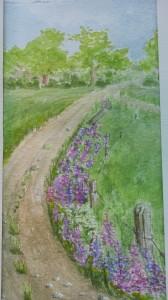 Lupinvägen   Akvarell