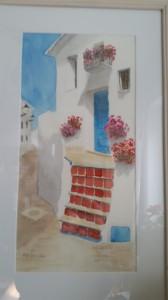 Hus i Frigliana   Akvarell