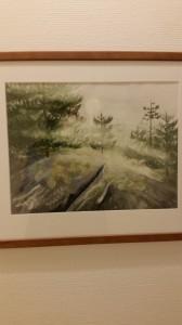 Skogsmotiv   Akvarell