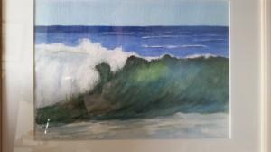 Vågen   Akvarell