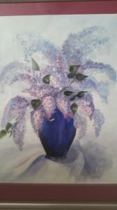 Syrenbukett   Akvarell