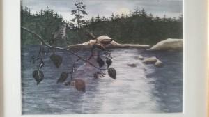 Vid Vänern 1  Akvarell