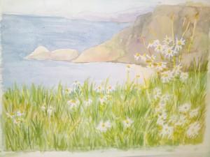 Mot havet   Akvarell