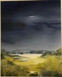 Akvarell  ovädersmoln