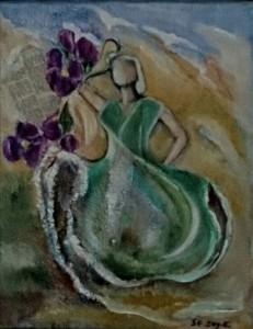 blomstertid akryl