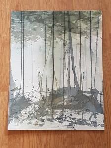 """tallskog II"", akvarell(Folkets hus 2017) såld"