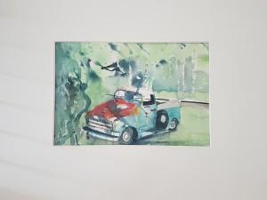 """""""rostigt vrålåk"""", akvarell"""