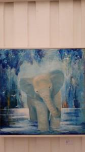 Elefant akryl 70x70 cm
