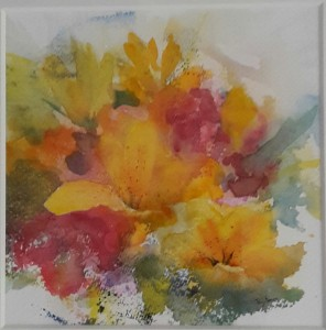Vårglädje akvarell