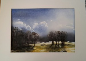 Vårväder 2017 akvarell