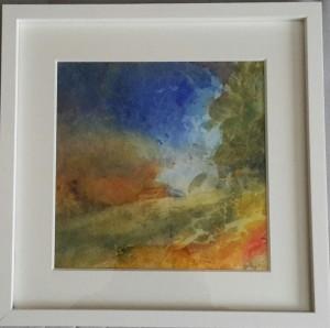 akvarell 30x30cm