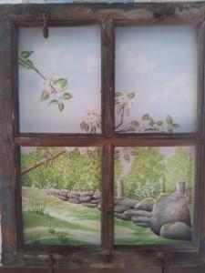 Vårfönster   Akvarell