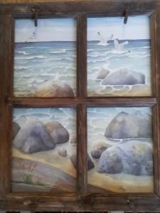 Vattenvy   Akvarell