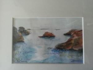 Vid havet   Akvarell