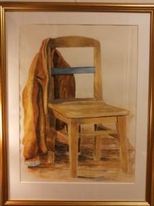 Min gamla skinnpaj   Akvarell