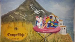 Glädje från Nerja  Akvarell